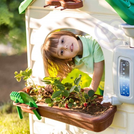FEBER Domek ogrodowy Eco Karmnik Segregacja Odpadów Imitacja Panelu Słonecznego