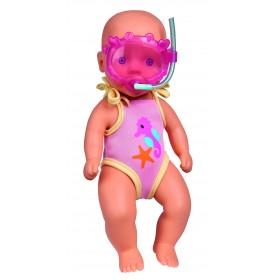 Simba lalka New Born Baby bobas do kąpieli z maską do nurkowania