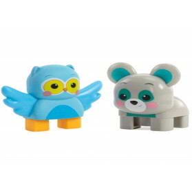 Little Tikes 2 Figurki Sowa i Niedźwiedź Klocki Wafle