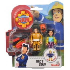 Simba - Strażak Sam 2 Figurki z akcesoriami Elvis i Mandy